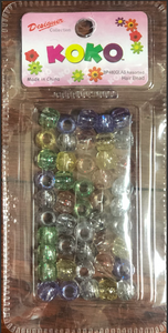 Multi Colored Clear Glittery Beads