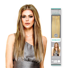 Load image into Gallery viewer, SEAMLESS SILKY STRAIGHT 8PCS CLIP-IN 613 22""