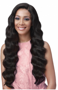 "FULL LACE OCEAN WAVE 32"" UNPROCESSED BUNDLE HUMAN HAIR WIG"