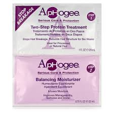 Aphogee Two-Step Protein Treatment and Balancing Moisturizer packette