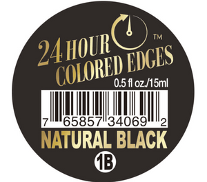 24HOUR COLORED EDGE TAMER - NATURAL BLACK
