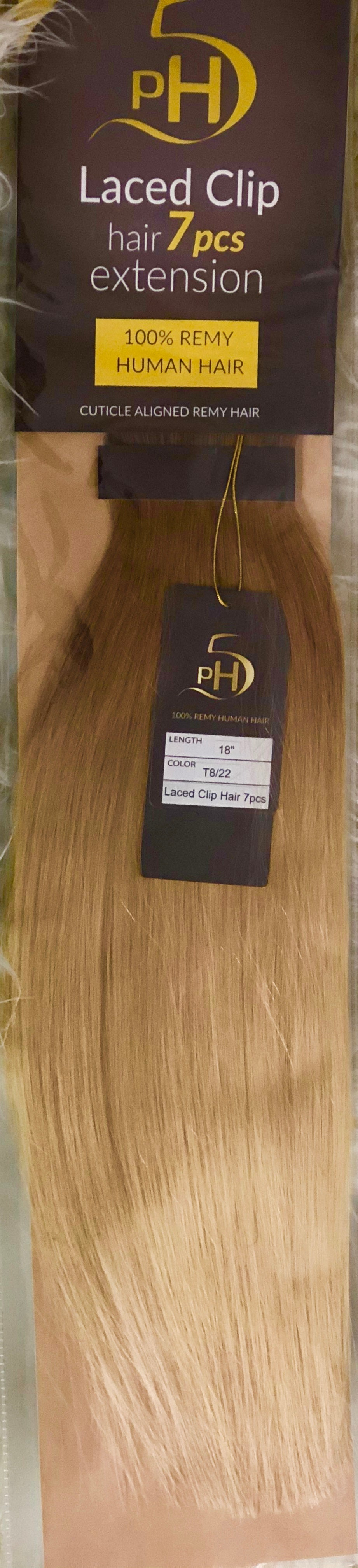 PH5 Laced Clip Hair | 7 Pieces Extension | 100% Remy Human Hair | 18