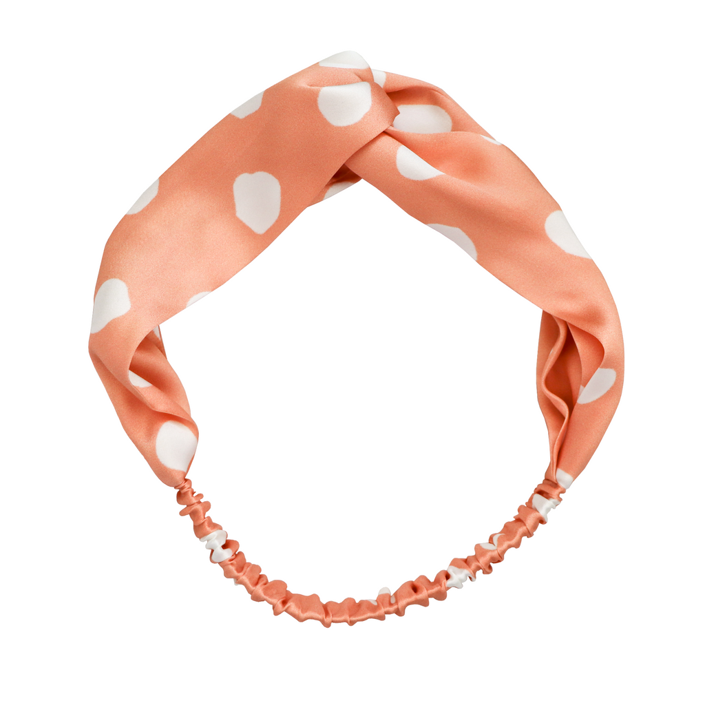 Spot On Peach Silk Headband | Frankie Peach Silk Accessories Australia