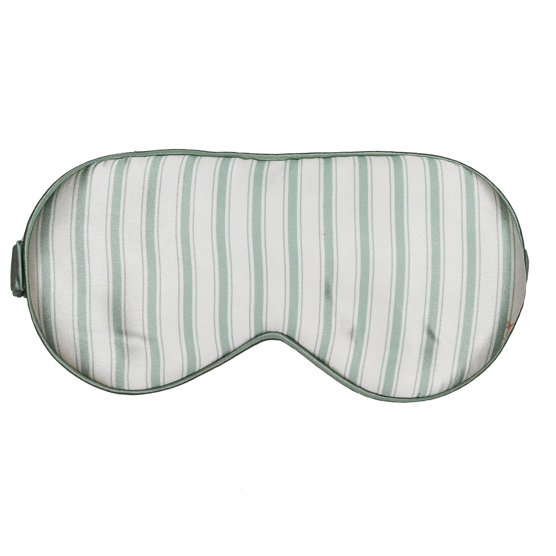 *Perfectly Imperfect* Sage Green - I Got Stripes Silk Sleep Eye Mask