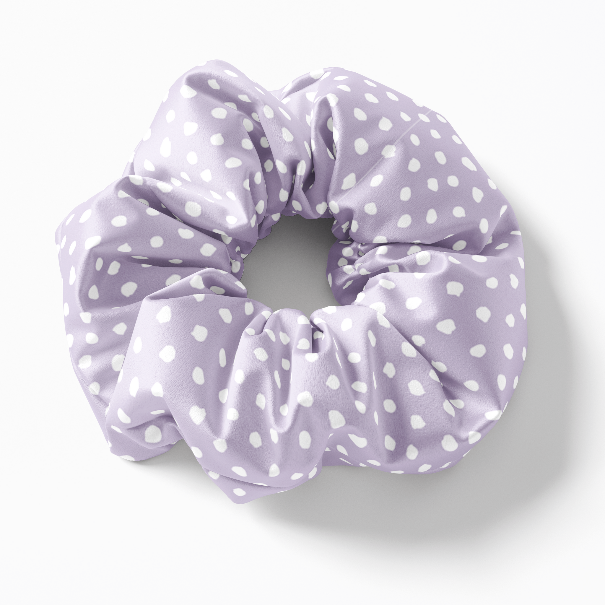 Lilac Spot Silk Scrunchies (set of 3) | Frankie Peach Silk Accessories