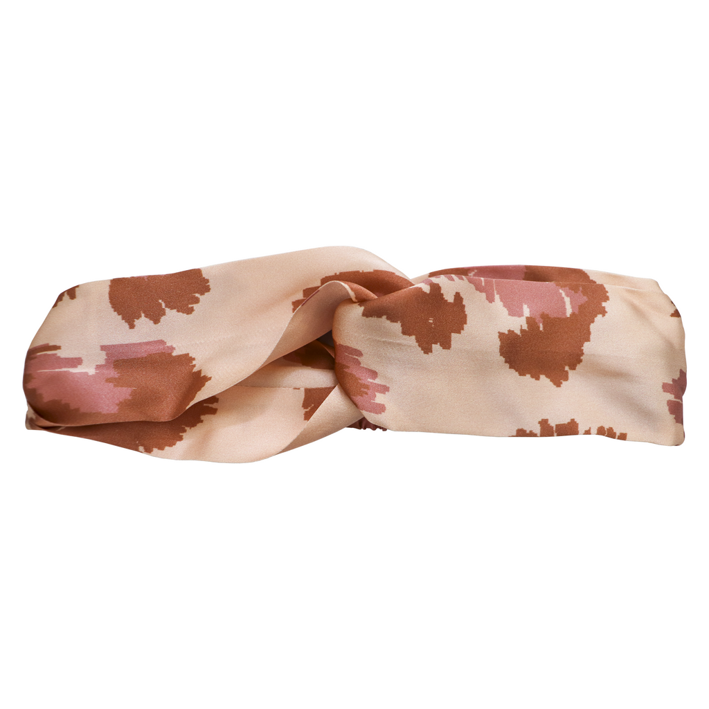 Painterly Silk Headband | Frankie Peach Silk Accessories Australia