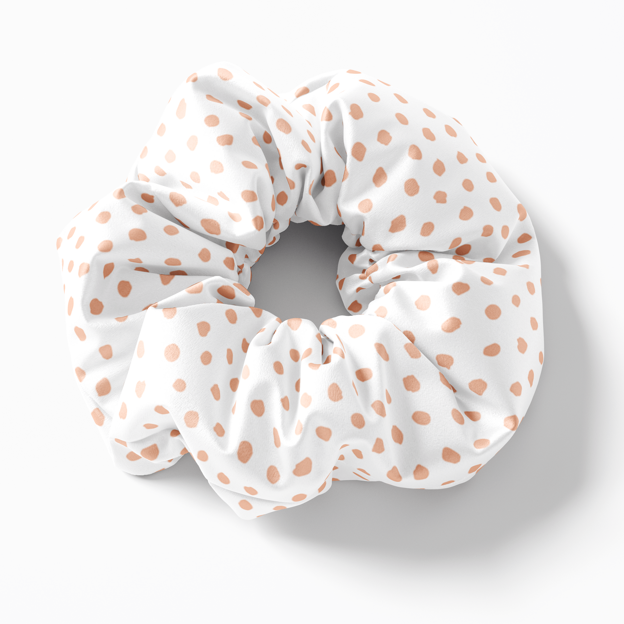 Peach Spots Silk Scrunchies (set of 3) | Frankie Peach Silk Accessories