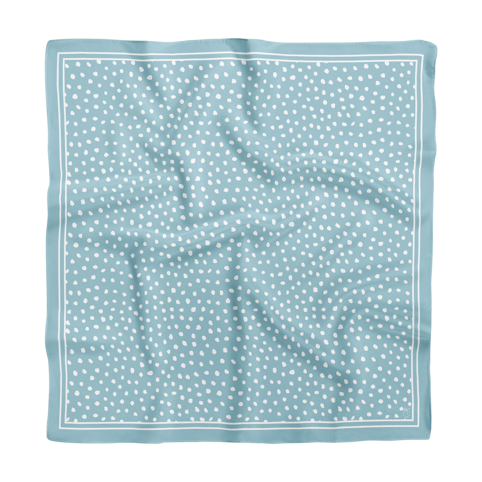 Sky Blue Spot On Classic Square Silk Scarf