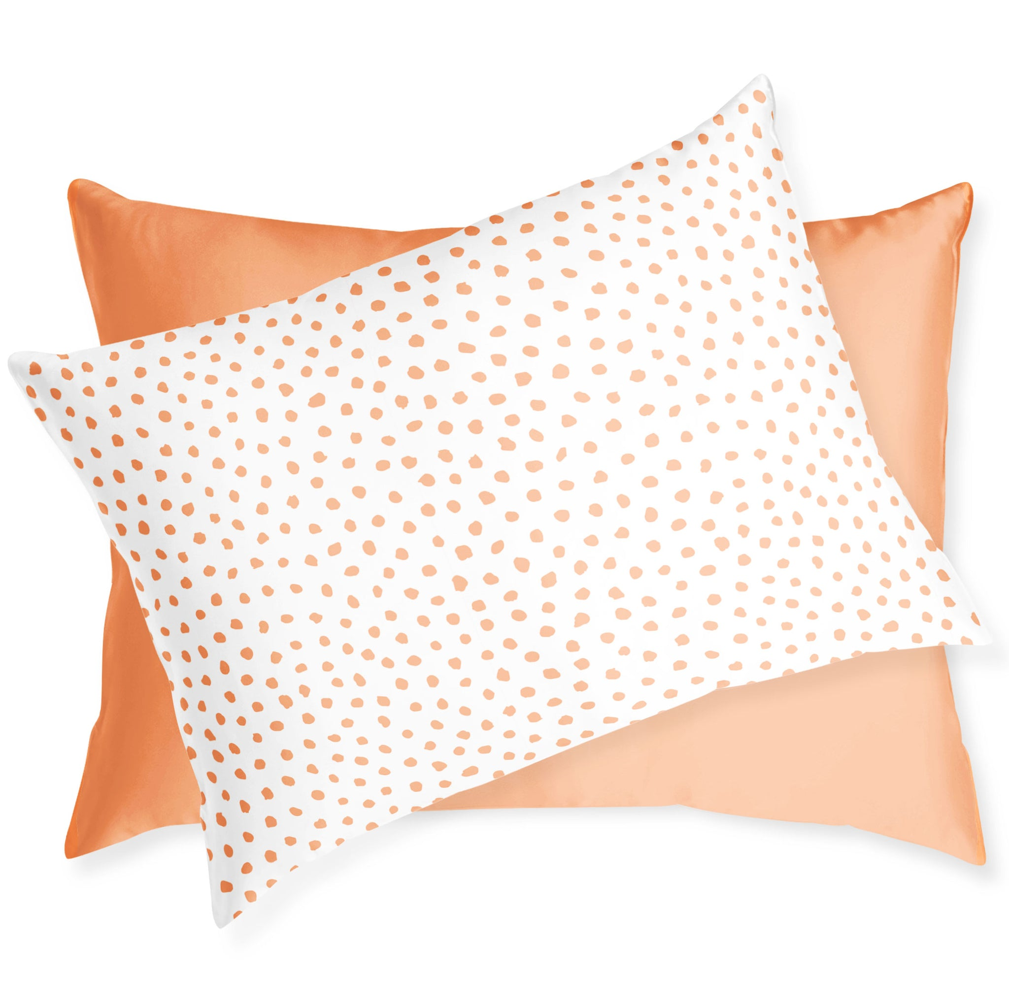 Peach Spot On Silk Reversible Pillowcase | Frankie Peach Australia Luxury Silk Australia