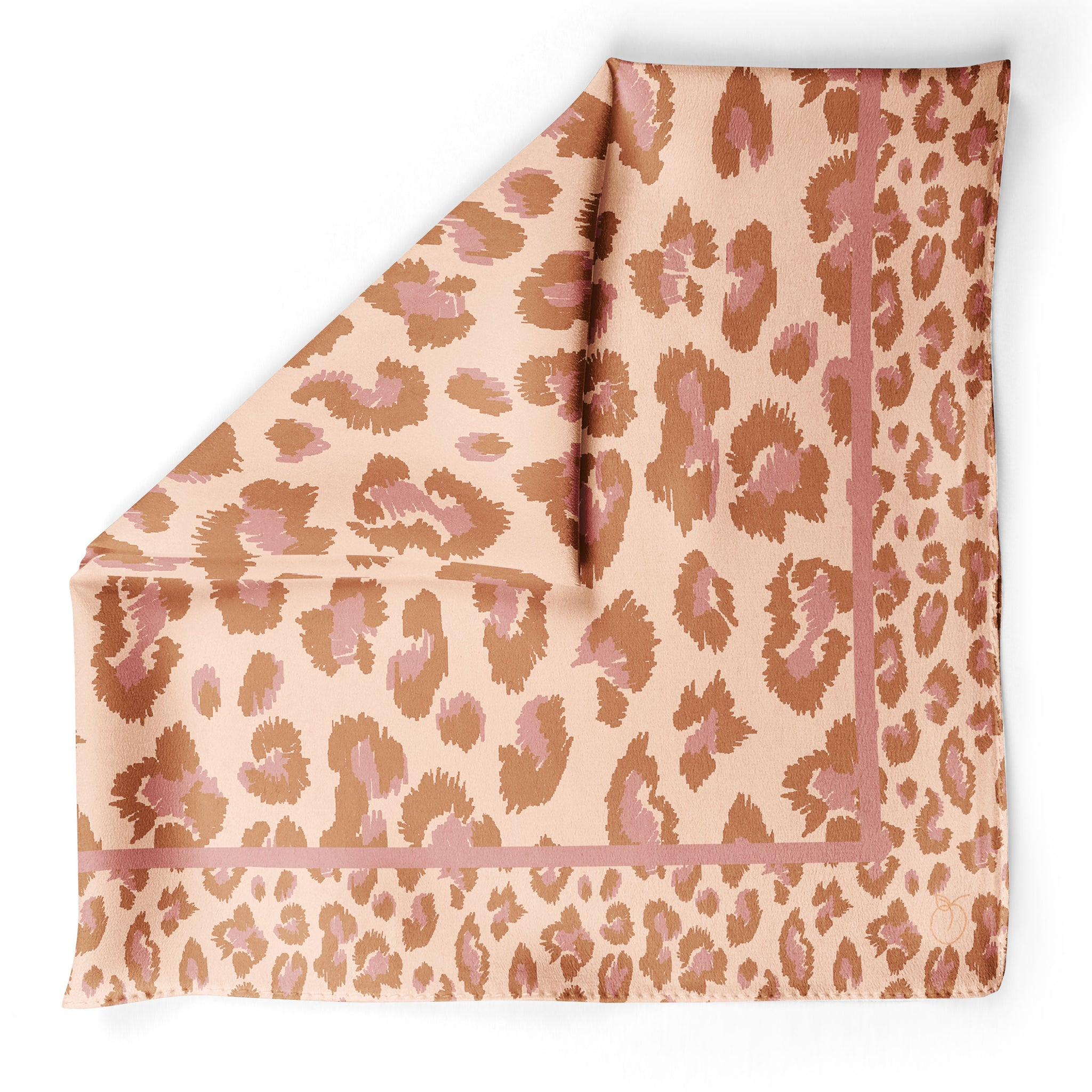 Terracotta The Wild One Leopard Oversized Square Silk Scarf | Frankie Peach Australia