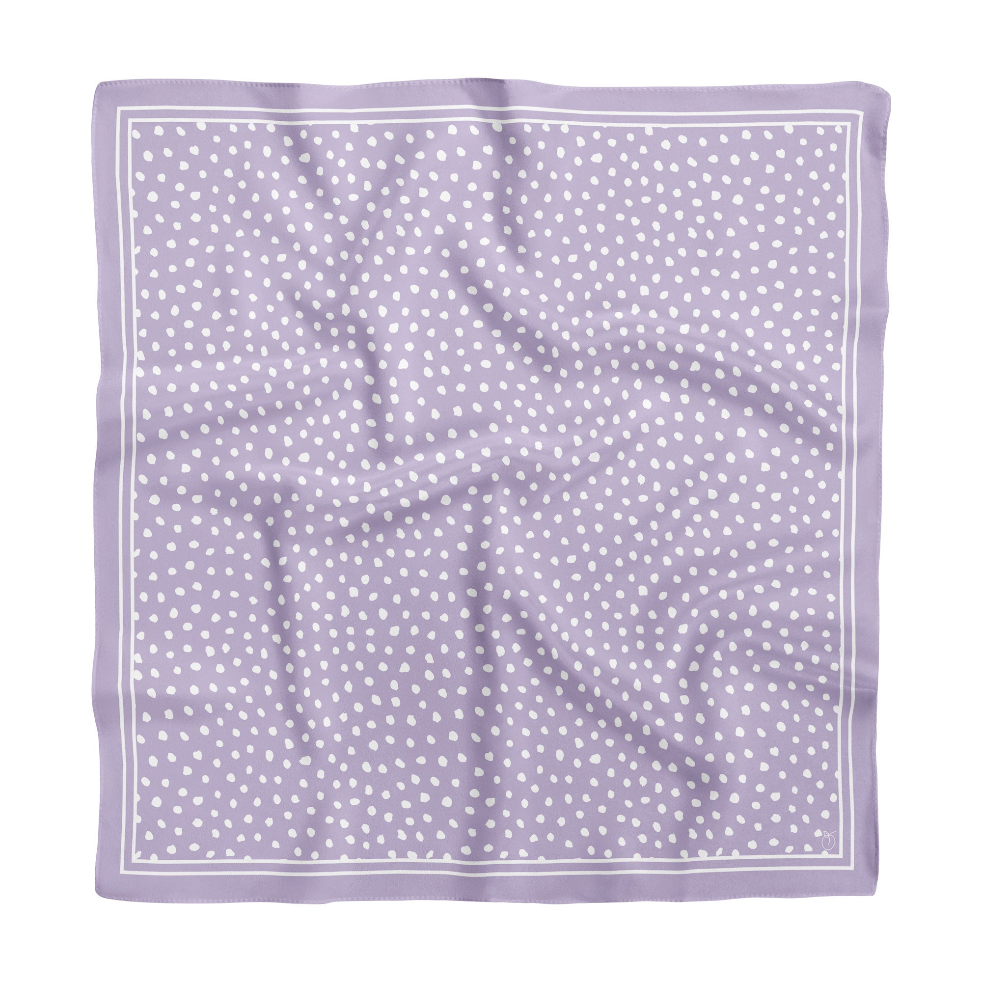 Lilac Spot On Classic Square Silk Scarf
