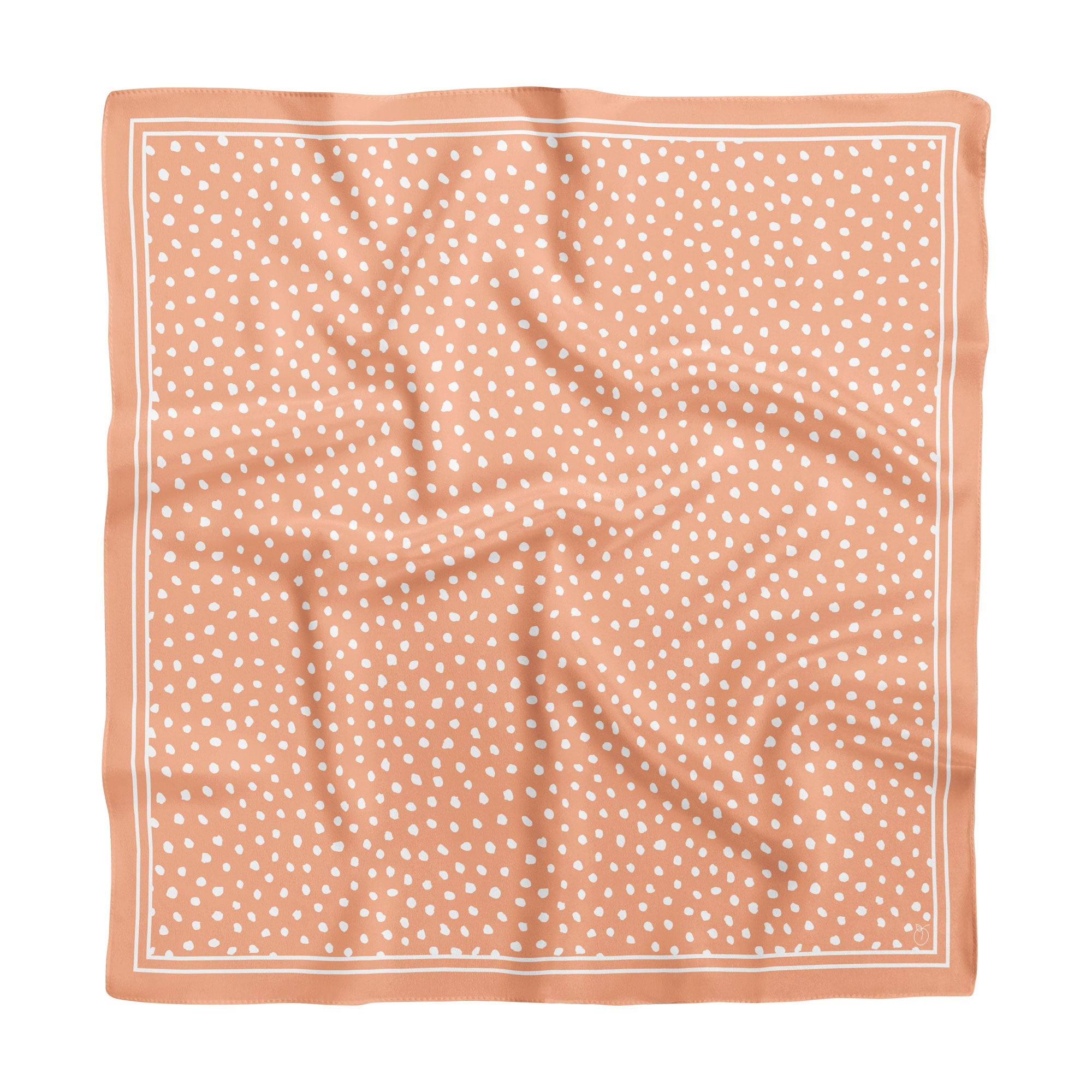 Peach Spot On Classic Square Silk Scarf
