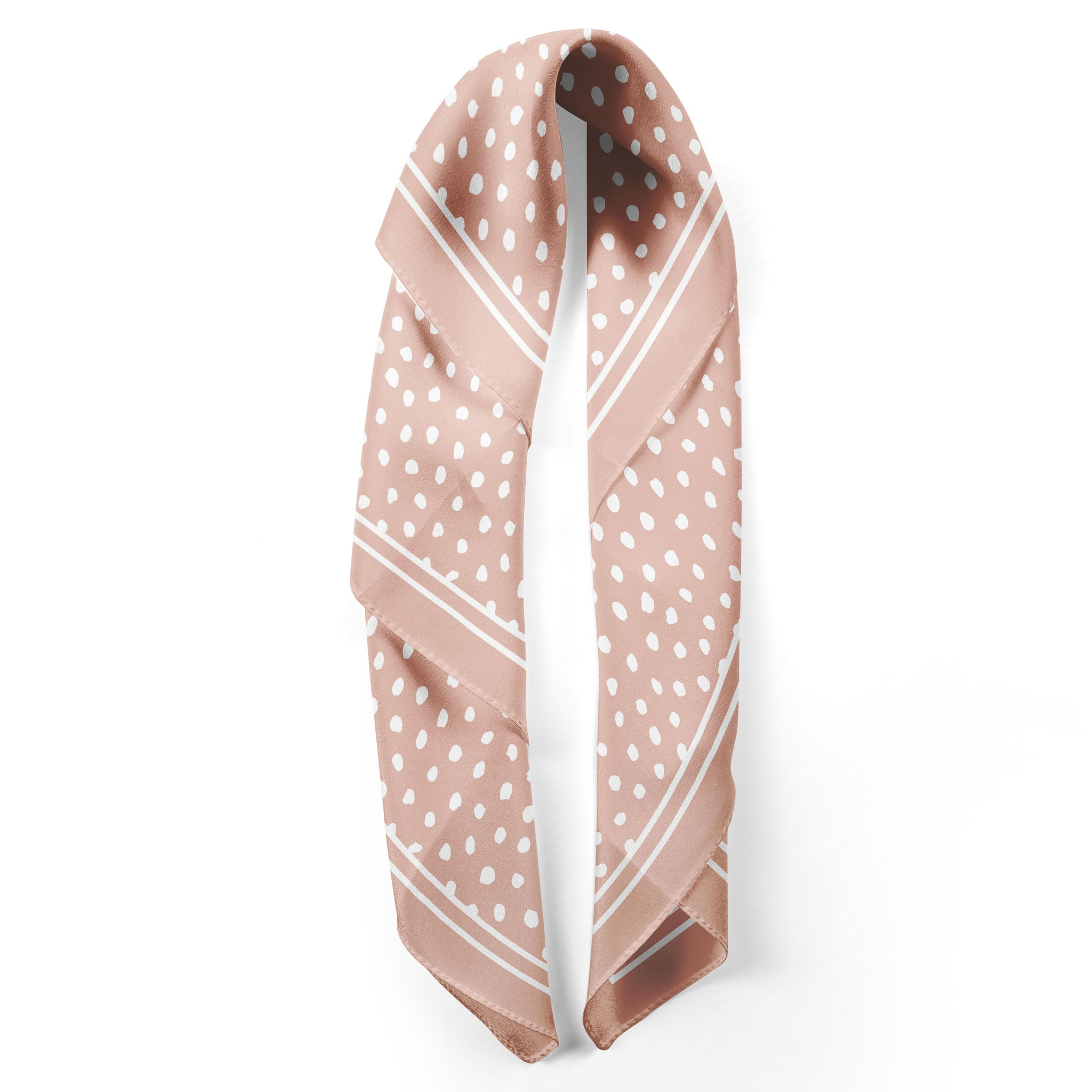 Rosewater Spot On Classic Square Silk Scarf