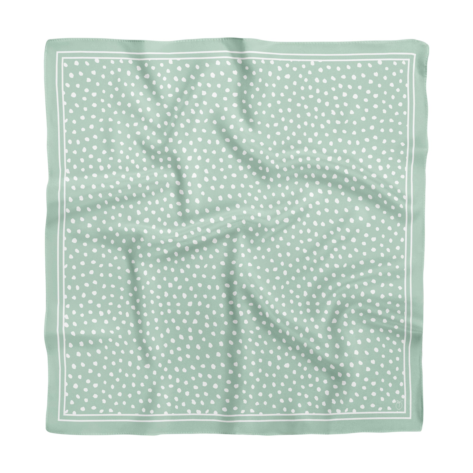 Sage Green Spot On Classic Square Silk Scarf