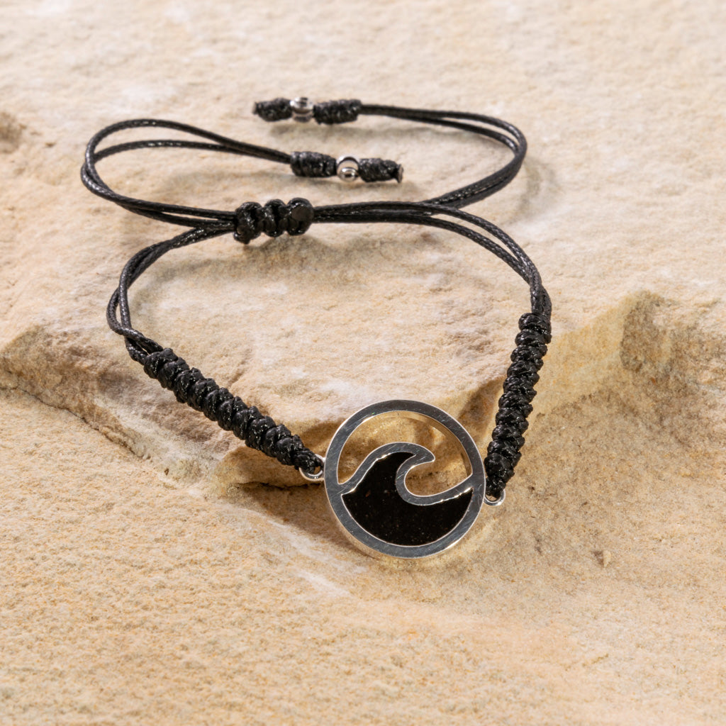 Wave Black Cord Bracelet - Cathedral Rock