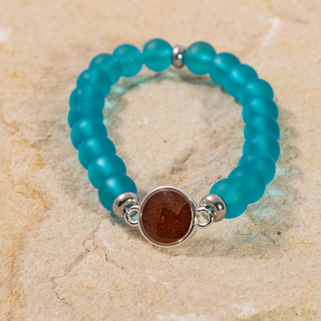 Bead Bracelet - Blue Sea & Bell Rock