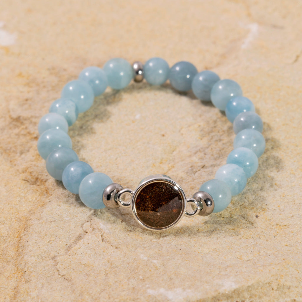 Bead Bracelet - Aquamarine & Cathedral Rock