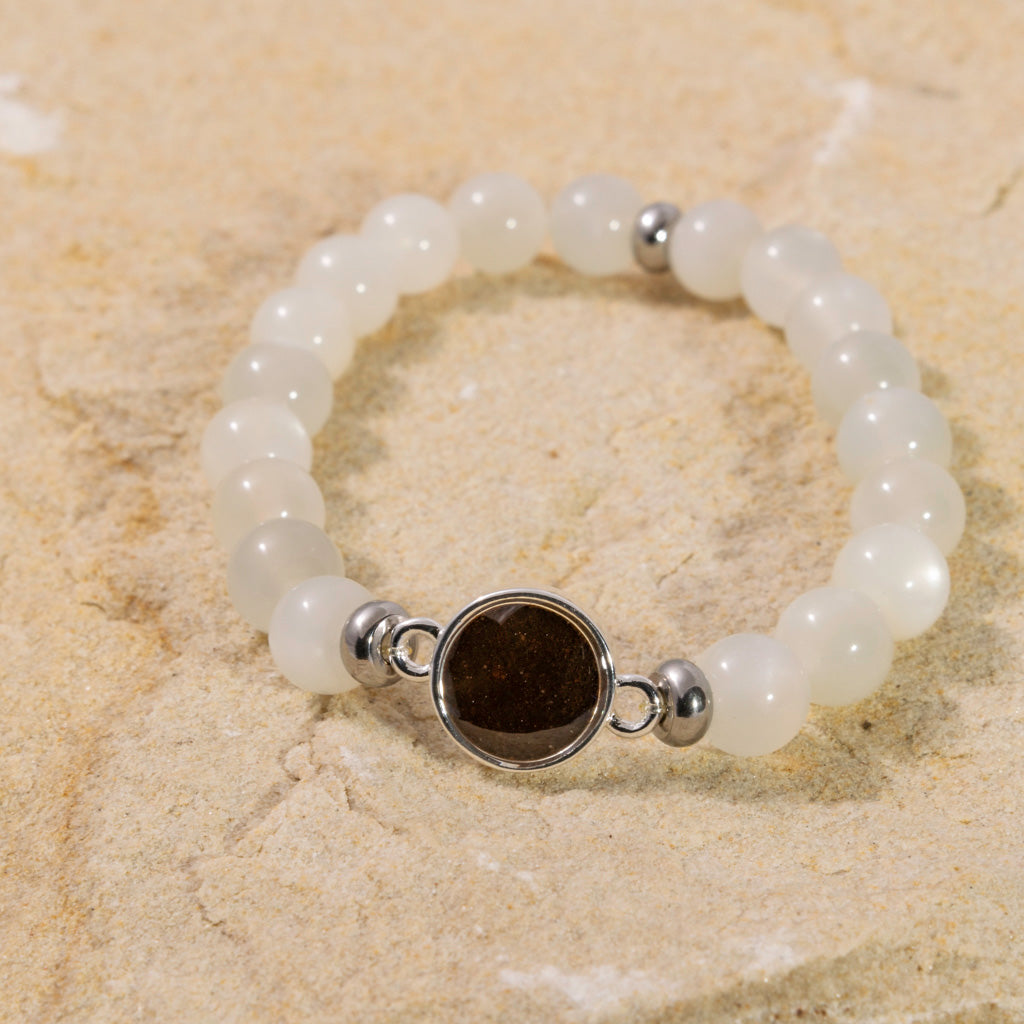 Bead Bracelet - Moonstone & Cathedral Rock
