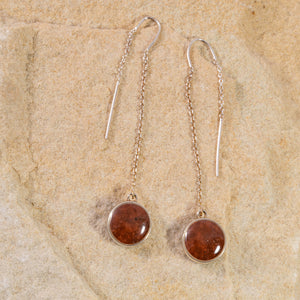 Sandglobe Long Earrings - Bell Rock
