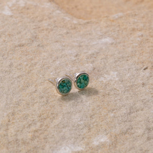 Drop Stud Earrings - Turquoise