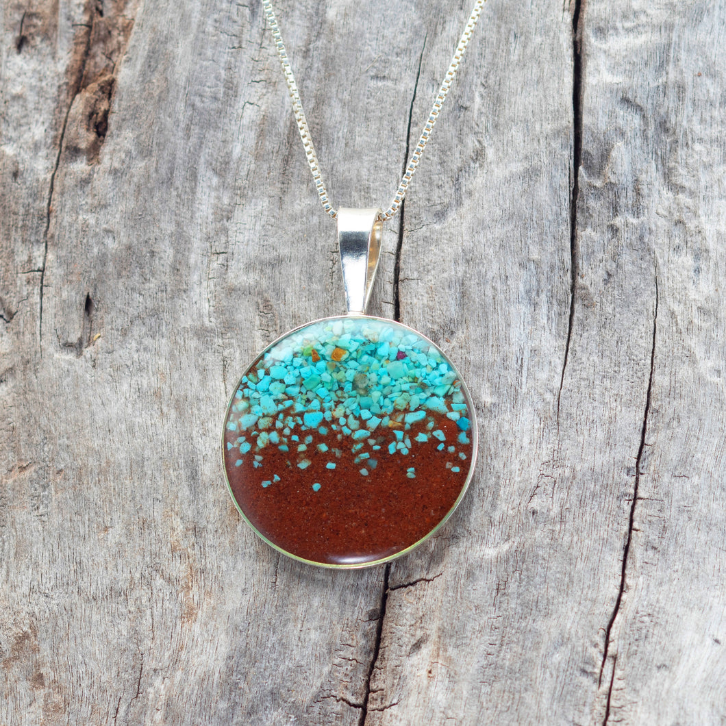 Marina Necklace, Turquoise and Bell Rock Soil