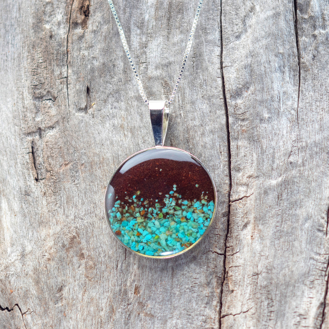 Marina Necklace, Turquoise and Cathedral Rock Soil