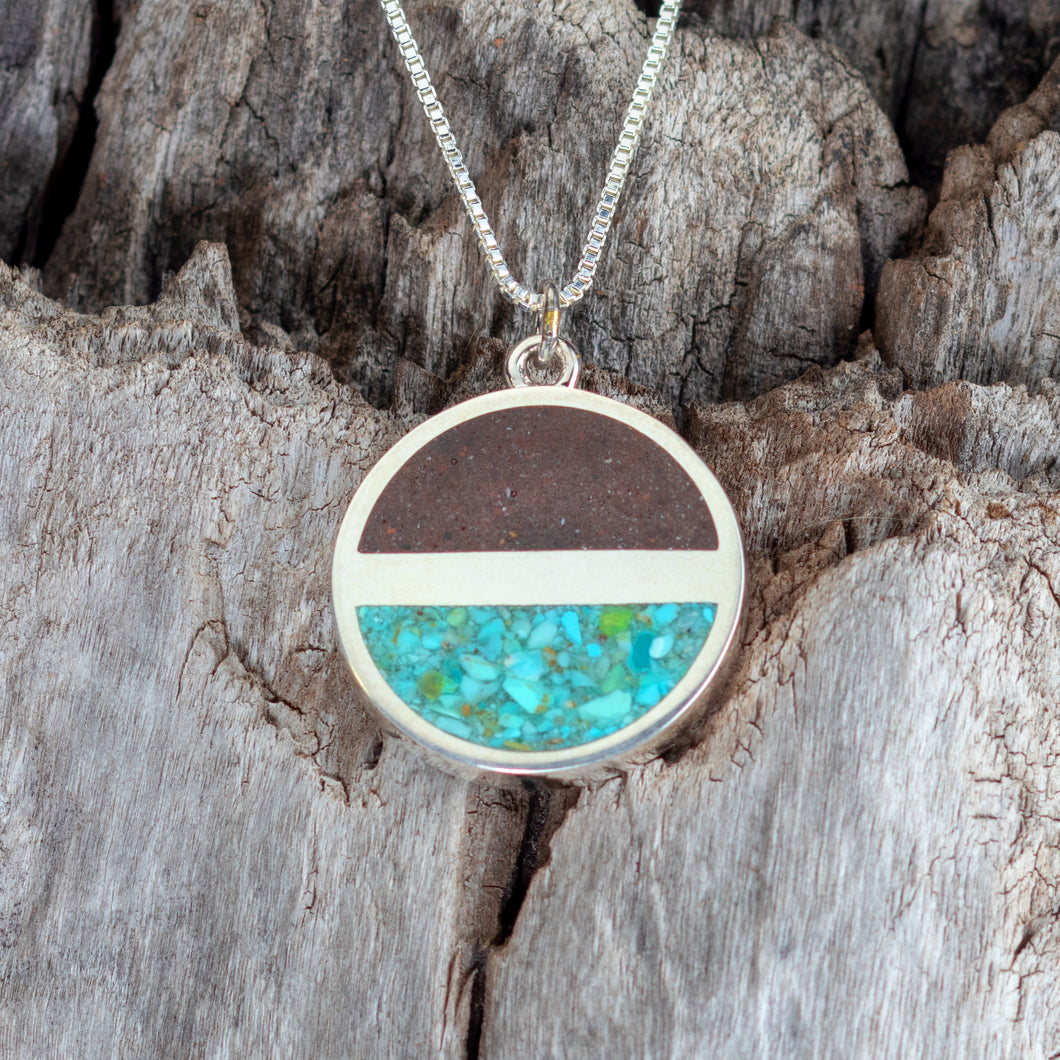 Horizon Necklace, Cathedral Rock Soil and Turquoise