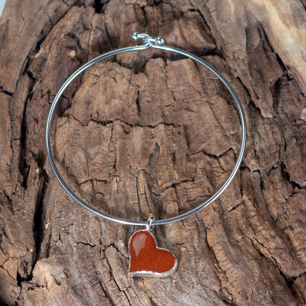 Beach Bangle, Bell Rock Heart