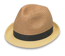 Load image into Gallery viewer, Natural Combo St. Tropez Trilby Hat