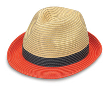 Load image into Gallery viewer, Orange Combo St. Tropez Trilby Hat
