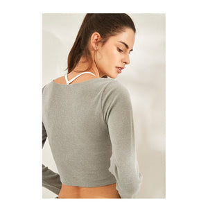 V-Neck Yoga Crop