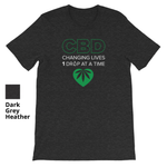 CBD CHANGING LIVES 1 DROP AT A TIME - Short Sleeve Unisex T-Shirt