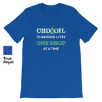 CBD OIL CHANGING LIVES ONE DROP AT A TIME - Short Sleeve Unisex T-Shirt