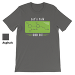 LET'S TALK CBD OIL - Short Sleeve Unisex T-Shirt