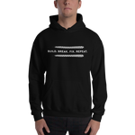 BUILD. BREAK. FIX. REPEAT. - Unisex Hoodie (Dark Colors)