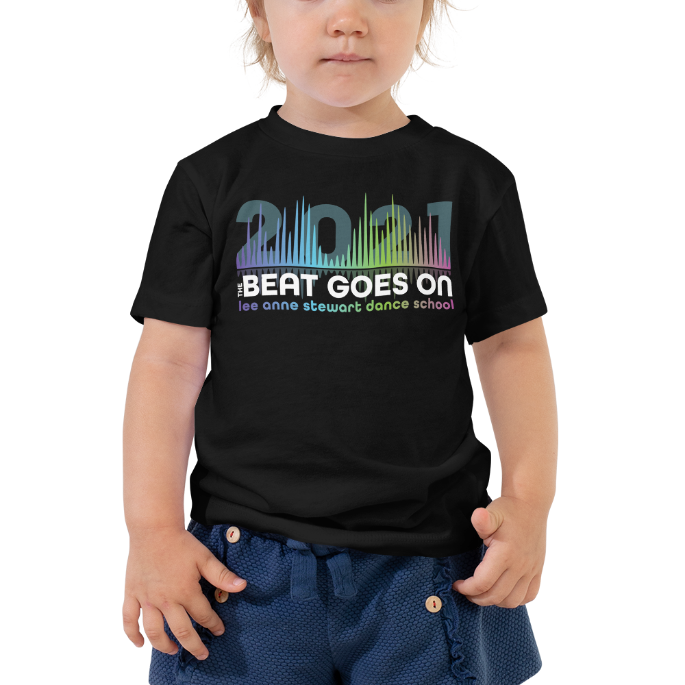 THE BEAT GOES ON 2021 - Toddler Short Sleeve Black Tee