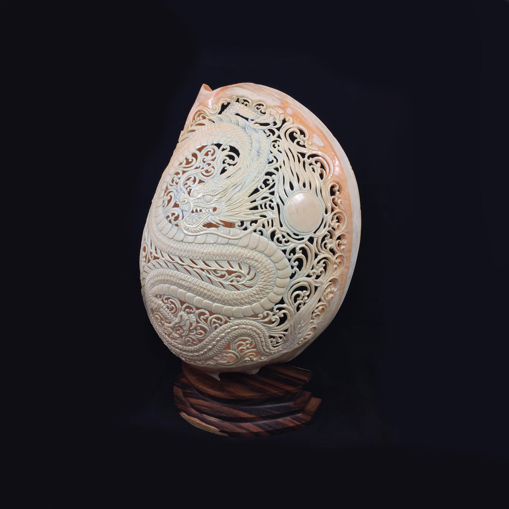Carved Dragon Shell