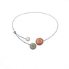 Bubble Choker, Orange/Pink