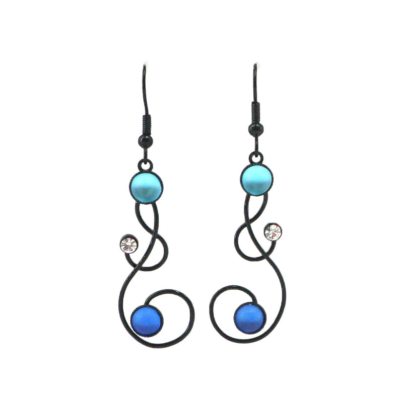 Bubbles & Swirls Earrings, Blue