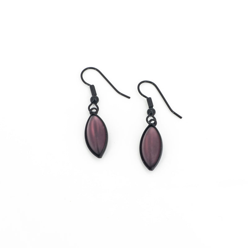 Purple Leaf Earring