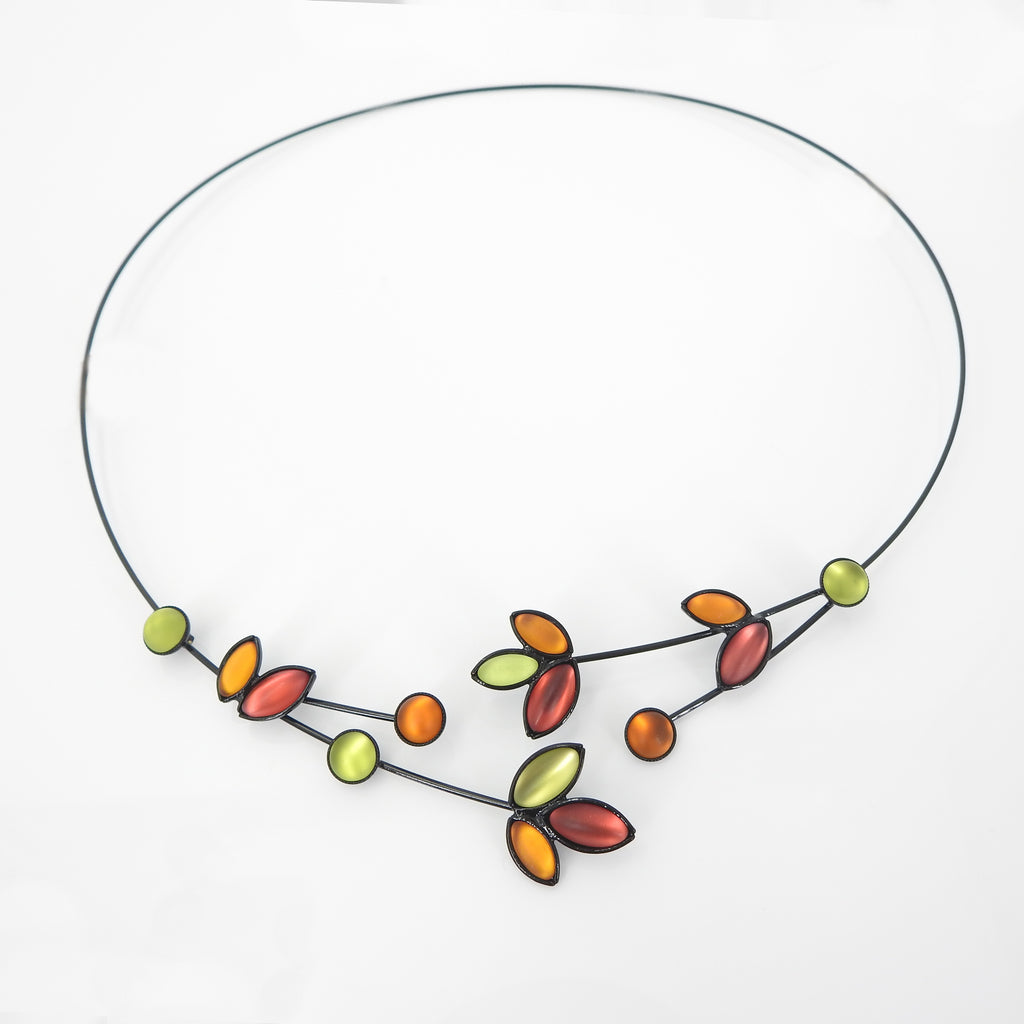 Leaves & Branches Memory Wire Necklace