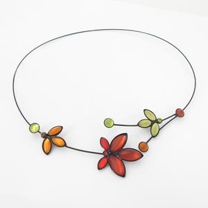 Small Maple Leaf Memory Wire Necklace