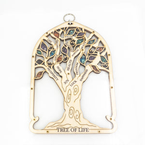 Hanging Wood Tree of Life