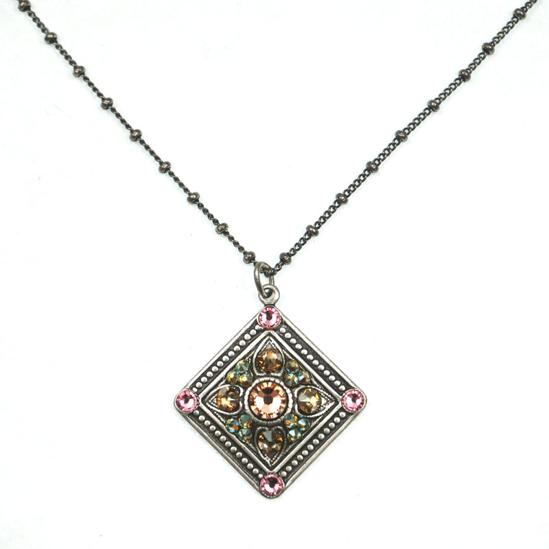 Vintage Glass Diamond Pendant