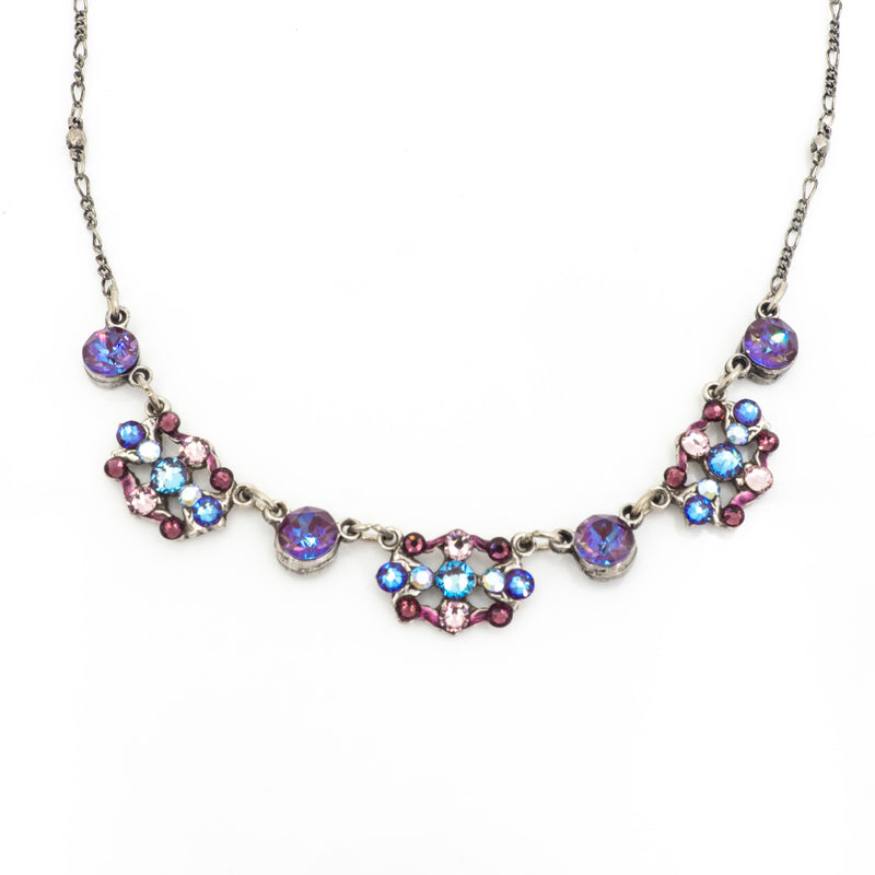 Open Crystal Filigree Necklace