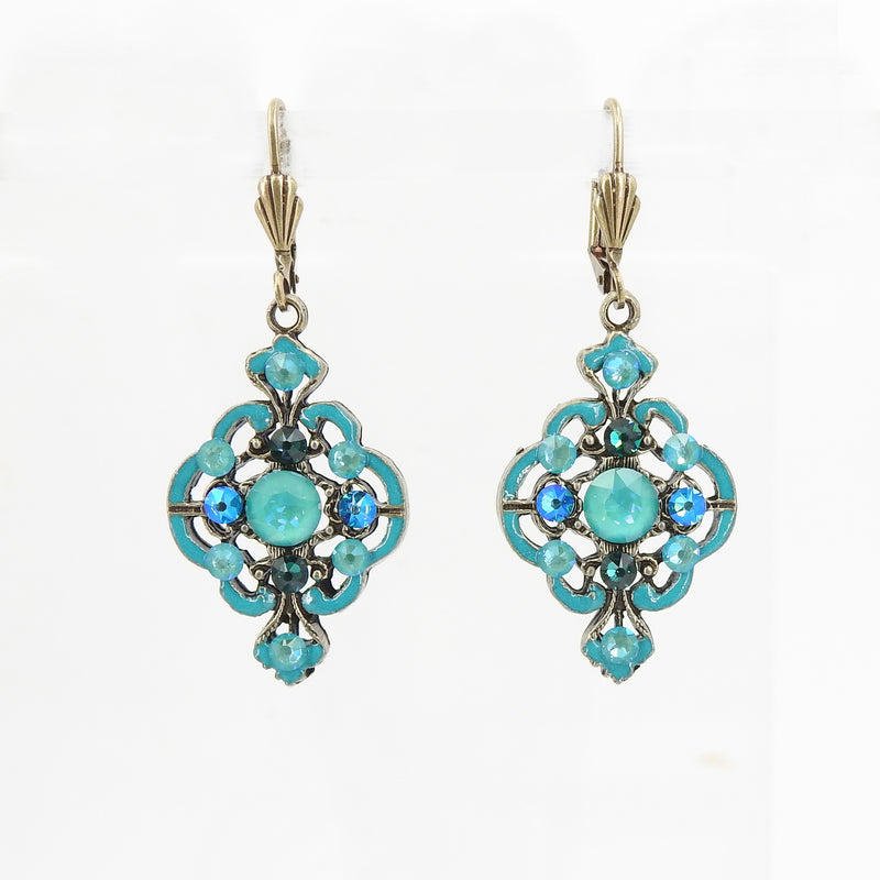 Large Fancy Wide Pendulum Earring