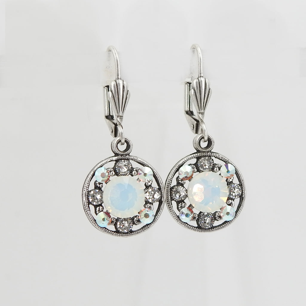 Round Filigreed Sparkle Earrings