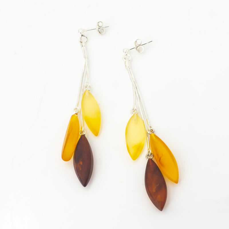 S/S Mixed Amber Earrings