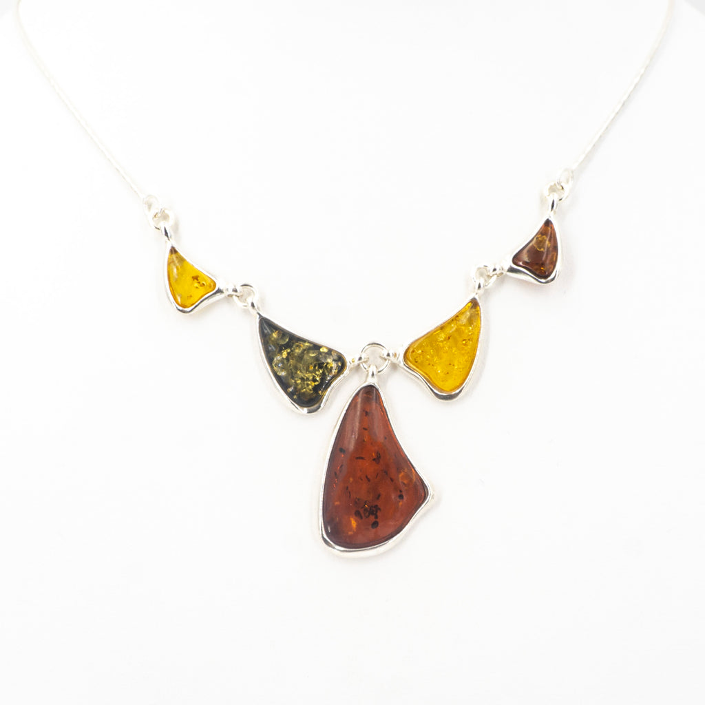 S/S Mixed Amber Necklace