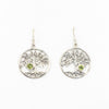 S/S Tree of Life Earring W Peridot